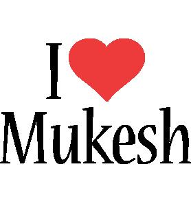 Mukesh i-love logo