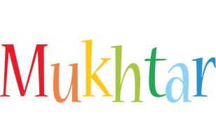 Mukhtar birthday logo