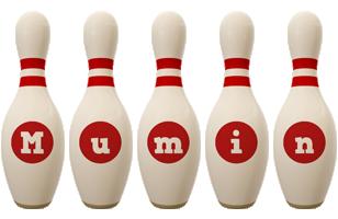 Mumin bowling-pin logo