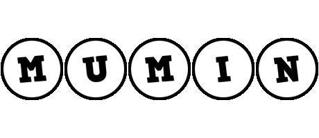 Mumin handy logo