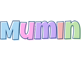 Mumin pastel logo