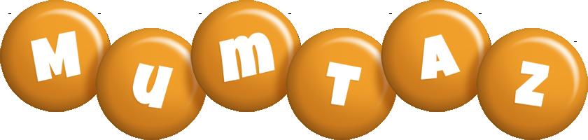Mumtaz candy-orange logo