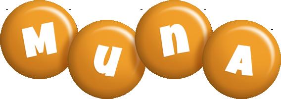 Muna candy-orange logo