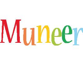Muneer birthday logo