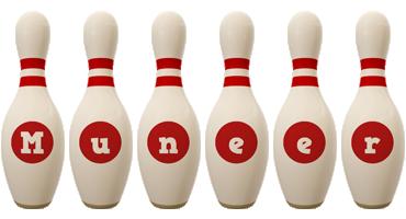 Muneer bowling-pin logo