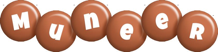 Muneer candy-brown logo