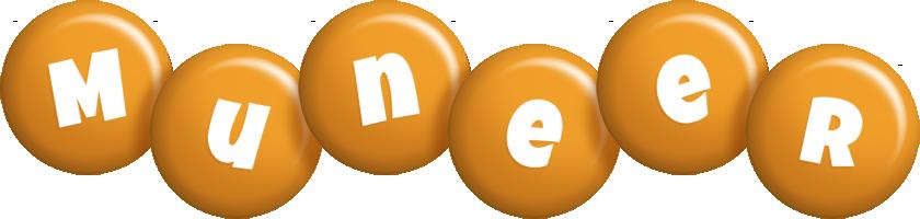 Muneer candy-orange logo