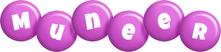 Muneer candy-purple logo