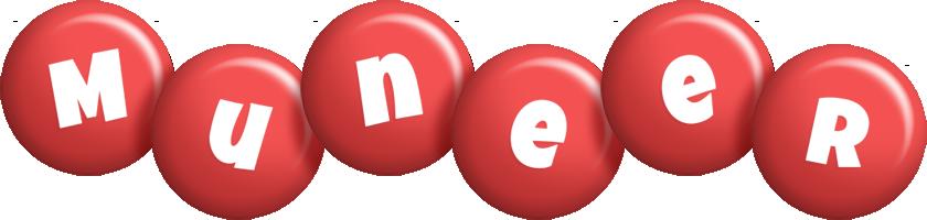 Muneer candy-red logo