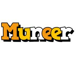 Muneer cartoon logo