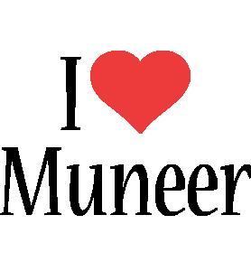 Muneer i-love logo