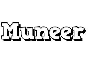 Muneer snowing logo