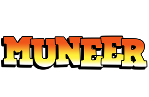 Muneer sunset logo