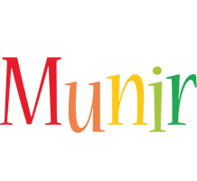 Munir birthday logo