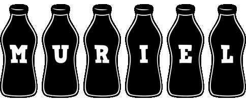 Muriel bottle logo