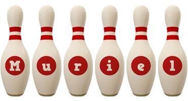 Muriel bowling-pin logo