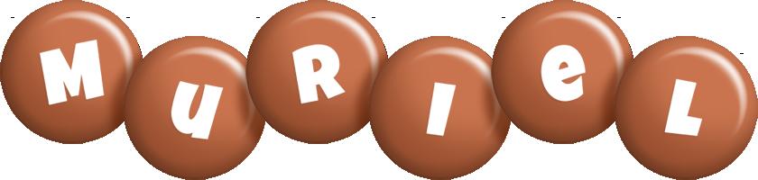 Muriel candy-brown logo