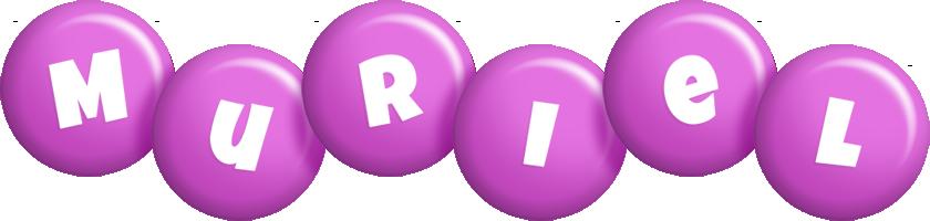 Muriel candy-purple logo