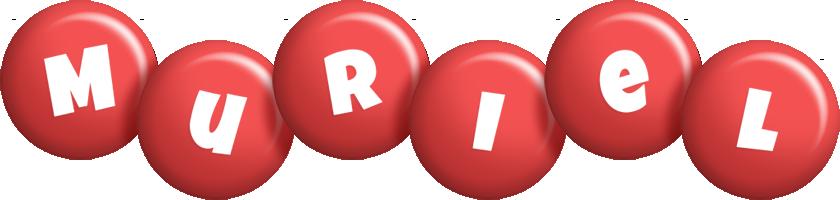 Muriel candy-red logo