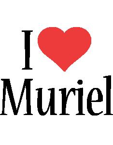 Muriel i-love logo