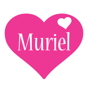 Muriel love-heart logo