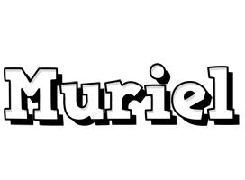 Muriel snowing logo