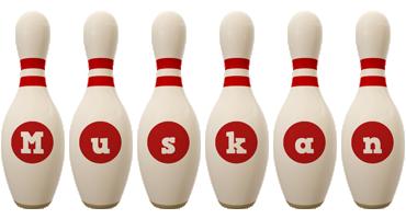 Muskan bowling-pin logo