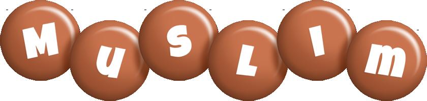 Muslim candy-brown logo