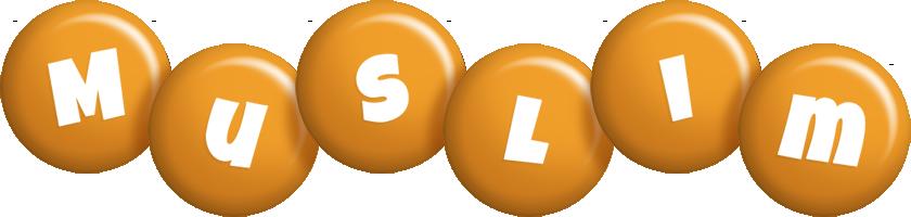 Muslim candy-orange logo