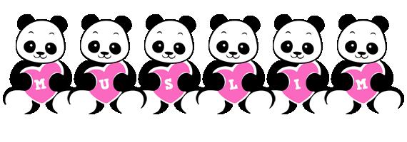 Muslim love-panda logo