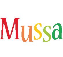 Mussa birthday logo