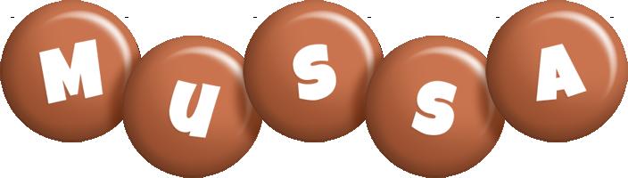 Mussa candy-brown logo