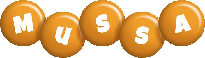 Mussa candy-orange logo