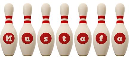 Mustafa bowling-pin logo