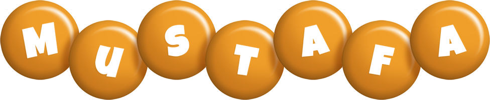 Mustafa candy-orange logo