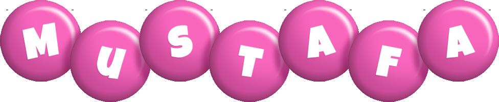 Mustafa candy-pink logo