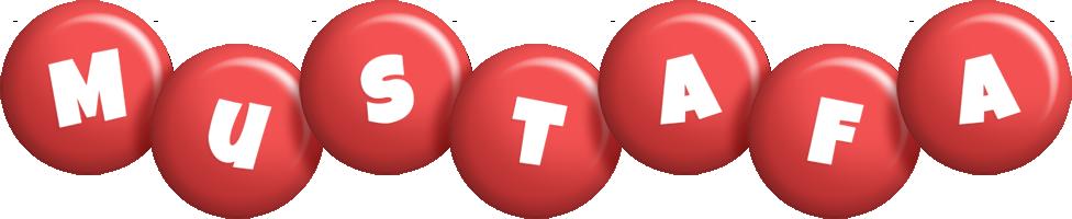 Mustafa candy-red logo