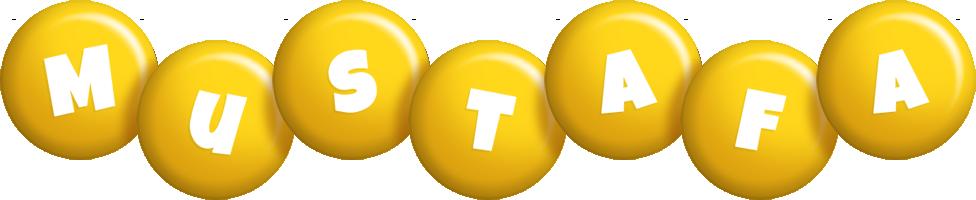 Mustafa candy-yellow logo