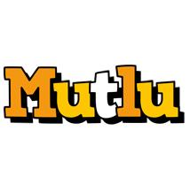 Mutlu cartoon logo