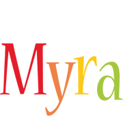Myra birthday logo