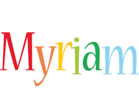 Myriam birthday logo