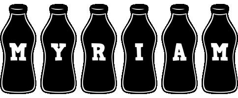 Myriam bottle logo