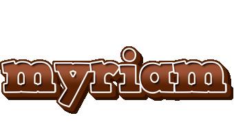 Myriam brownie logo