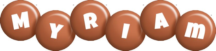 Myriam candy-brown logo