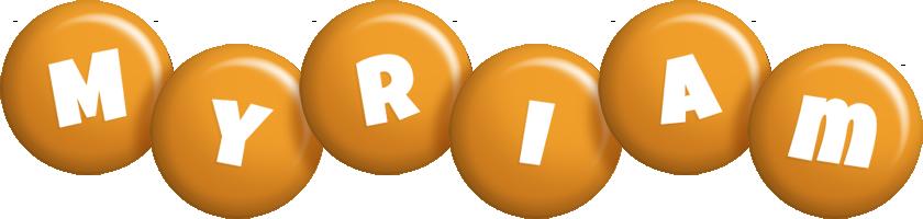 Myriam candy-orange logo