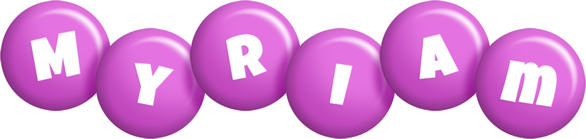 Myriam candy-purple logo