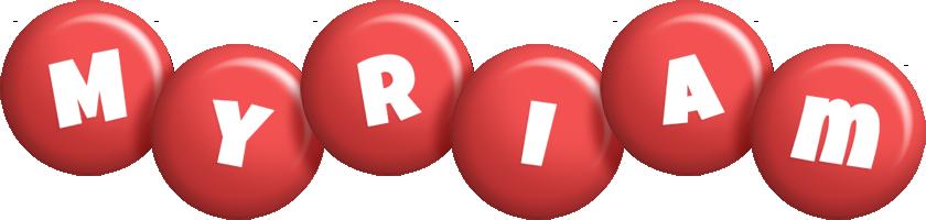 Myriam candy-red logo
