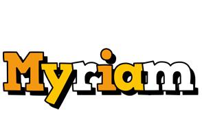 Myriam cartoon logo