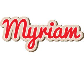 Myriam chocolate logo