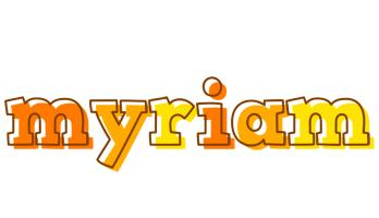 Myriam desert logo